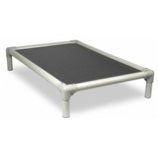 Beige PVC Frame Bed Large- Grey