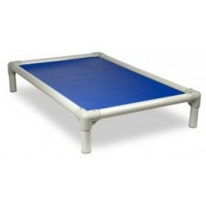 Beige PVC Frame Bed Medium- Blue